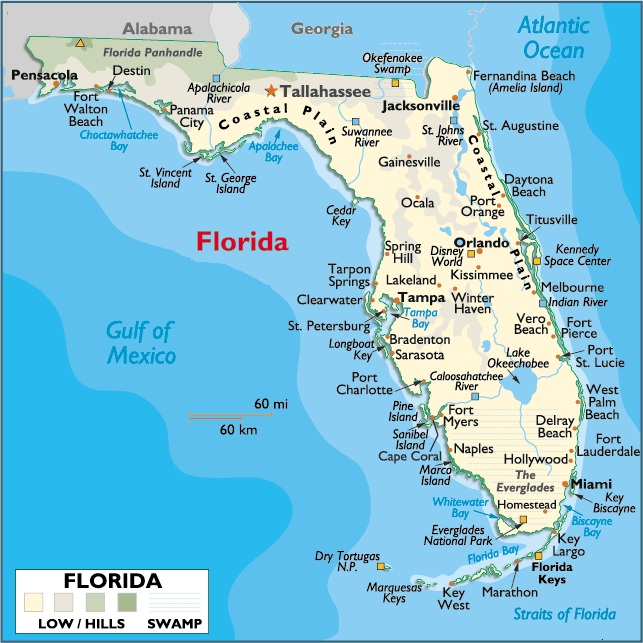 FLORIDA PLACES AND THINGS - Where is florida