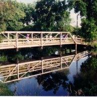 Crossover bridge on river Lyons in Nebraska, USA