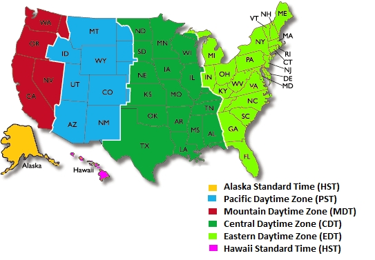 USmap and time zones