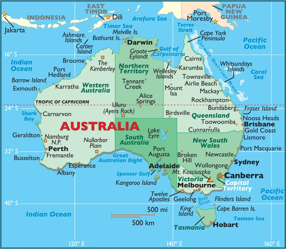 complete map of australia