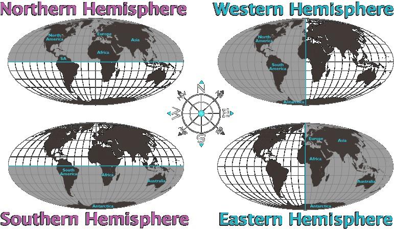 the earths four hemispheres 4hemispheres