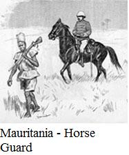 Mauritania -horse guard