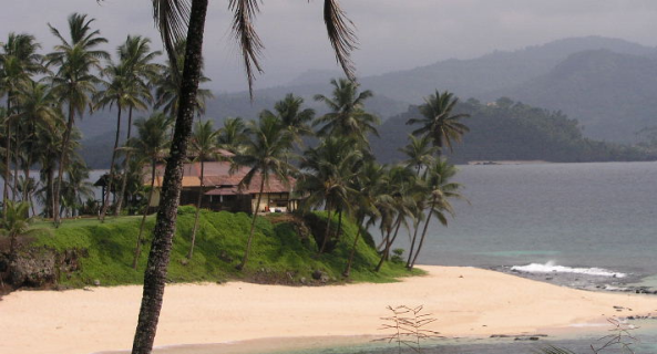 Sao Tome - Local oceanfront