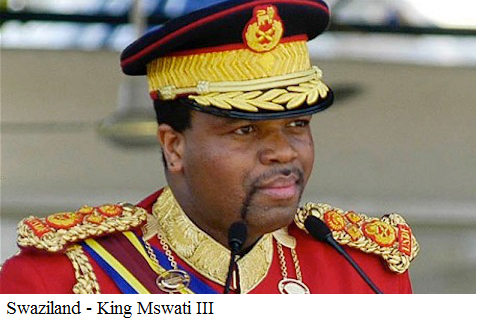 Swaziland - King Mswati III